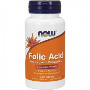 NOW FOODS FOLIC ACID 800MCG 250 TABS