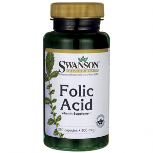 SWANSON FOLIC ACID 800MCG 250 CAPS