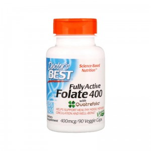 DOCTOR'S BEST FULLY ACTIVE FOLATE 400mcg 90 KAPS