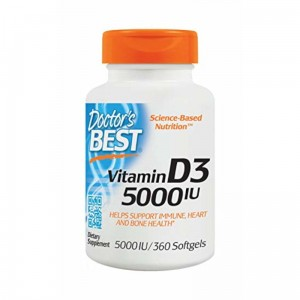 DOCTOR'S BEST WITAMINA D3 5000IU 360 KAPS