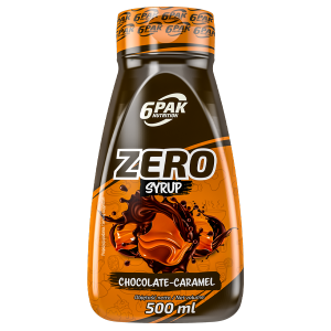 6PAK ZERO SYRUP 500ML CHOCOLATE CARAMEL