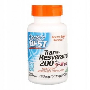DOCTOR'S BEST TRANS-RESVERATROL 200mg 60 CAPS