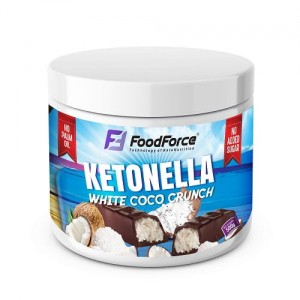 FOOD FORCE KETONELLA WHITE COCO  CRUNCH  500ML