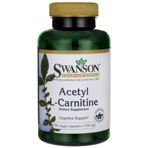 SWANSON ACETYL L-CARNITINE 500MG 100 CAPS