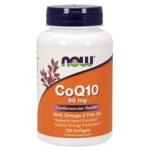 NOW FOODS COQ10 60MG WITH OMEGA3 120 KAPS