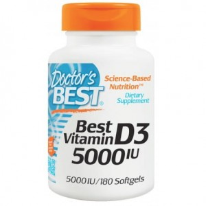 DOCTOR'S BEST WITAMINA D3 5000IU 180 KAPS