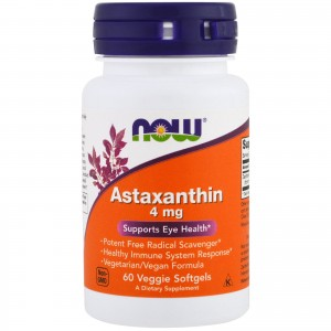 NOW FOODS ASTAXANTHIN 4MG 60 KAPS