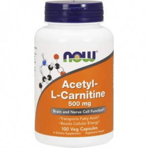 NOW FOODS ACETYL L-CARNITINE 500MG 100 KAPS