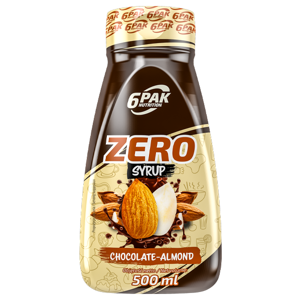 6PAK ZERO SYRUP 500ML CHOCOLATE ALMOND